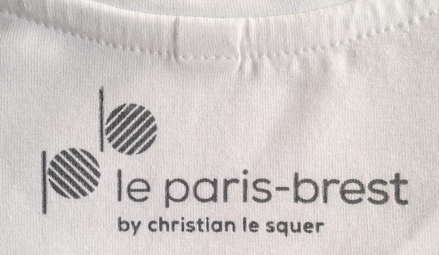 loxiale block print logo resaurant label natural dye Le paris brest christian lesquer gastronomy french