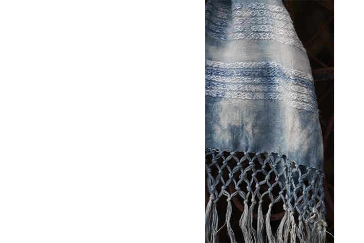 indigo loxiale tissage chanvre et soie