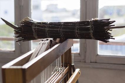 carole bertaux loxiale tissage bois atelier ennobliesseur textile tisserand haut de gamme eco responsable tissu mode responsable