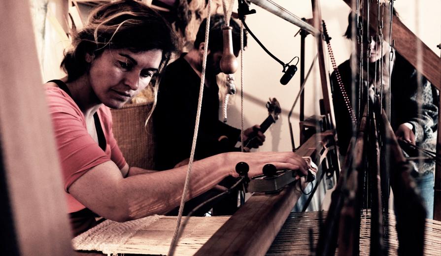 Musica Textilis Résidence photo Sonia Larue Lucile DROUET Elodie FIat Eric THOMAS loxiale atelier